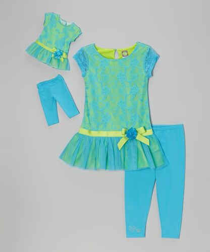 "New DOLLIE /& ME GIRL TOP LEGGINS Set 7 8 10 FITS AMERICAN GIRL /& Other 18/"" Dolls"
