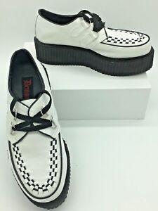 98c55a4be21a Demonia V-Creeper 502 Mens White Black Veggie Leather 2