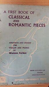 Un Premier Livre De Classique + Romantique Pièces Pour Violon + Piano: Musique-afficher Le Titre D'origine