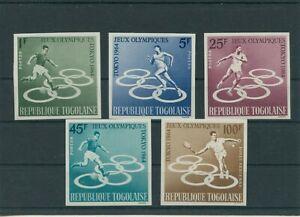 Togo-Togolaise-Olympique-Olympia-1964-Tokio-Mi-435-439-B-Neuf-MNH
