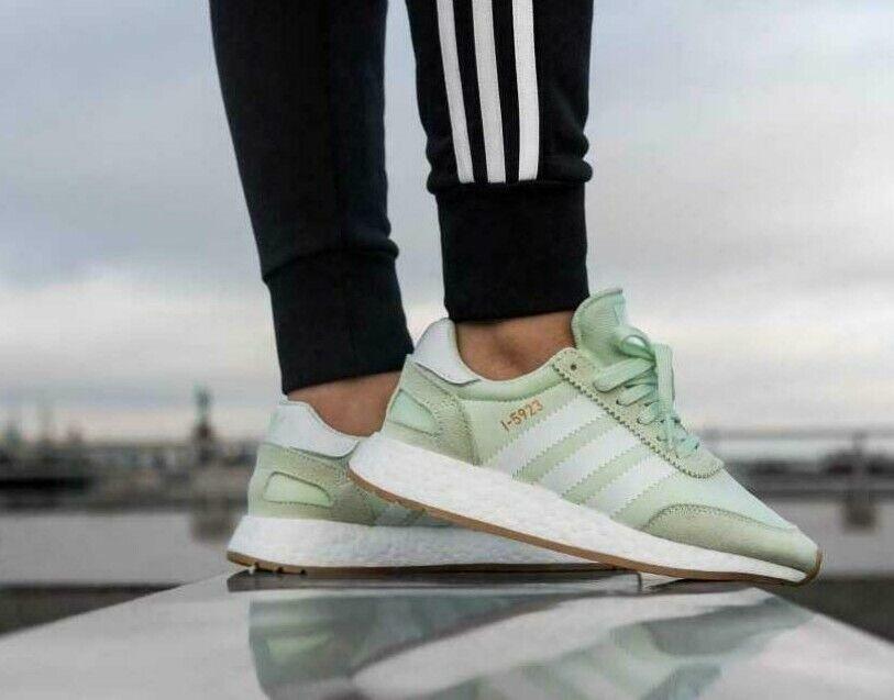 Adidas Originals Iniki Runner Aero Green Gum Womens Boost Trainers Size UK 6.5