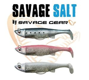 SAVAGE-GEAR-SALT-Sea-Fishing-Lure-3D-TPE-Minnow-Taille-Crochet-plastique-souple-bass
