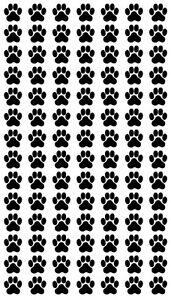 Katzen-und-Hunde-Pfoten-Cats-and-Dog-paws-98-Aufkleber-Sticker-je-1-5X1-5cm