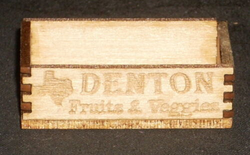 Dollhouse Miniature Denton Produce Crate 1:12 Texas Farm Food Vegetable