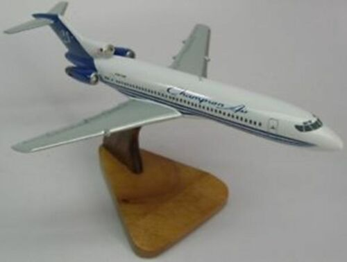 B727 Champion Air Boeing Airplane Mahogany Wood Model Large New