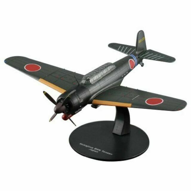 Set of 3 Japanese Aircrafts Nakajima WW2 1:72 Military plane diecast DeAgostini