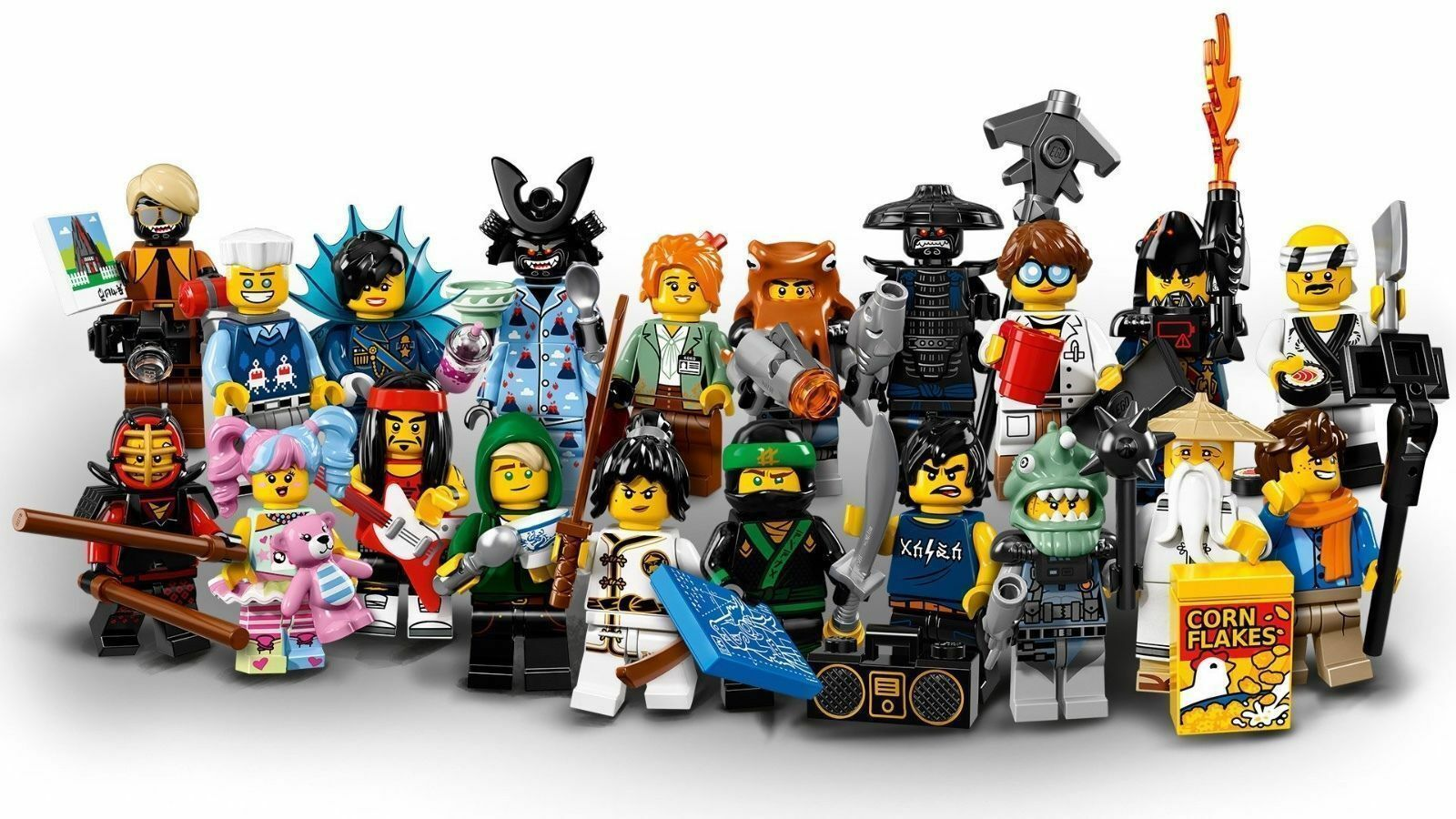LOT OF 12 LEGO Minifigures Ninjago Movie Series 71019 NO DUPLICATES GUARANTEED