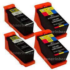 4pk Series 21/22/23 Ink Cartridges Black/Color for Dell V515w V313w V313 Printer
