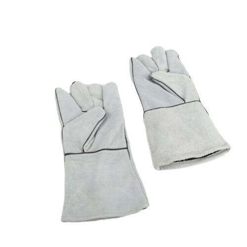 14 Inch Leather Welding Gloves For Tig Welders Mig Fireplace Stove BBQ Gardening