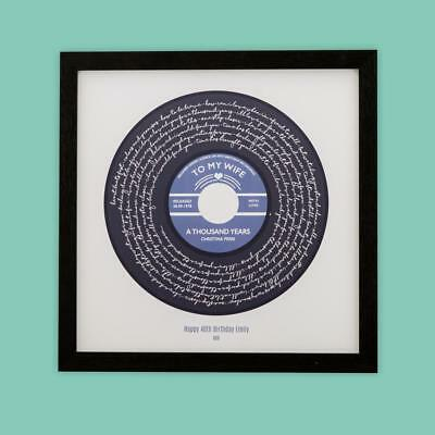 THE JAM THAT/'S ENTERTAINMENT vinyl framed print Valentines Day Gift PERSONALISED