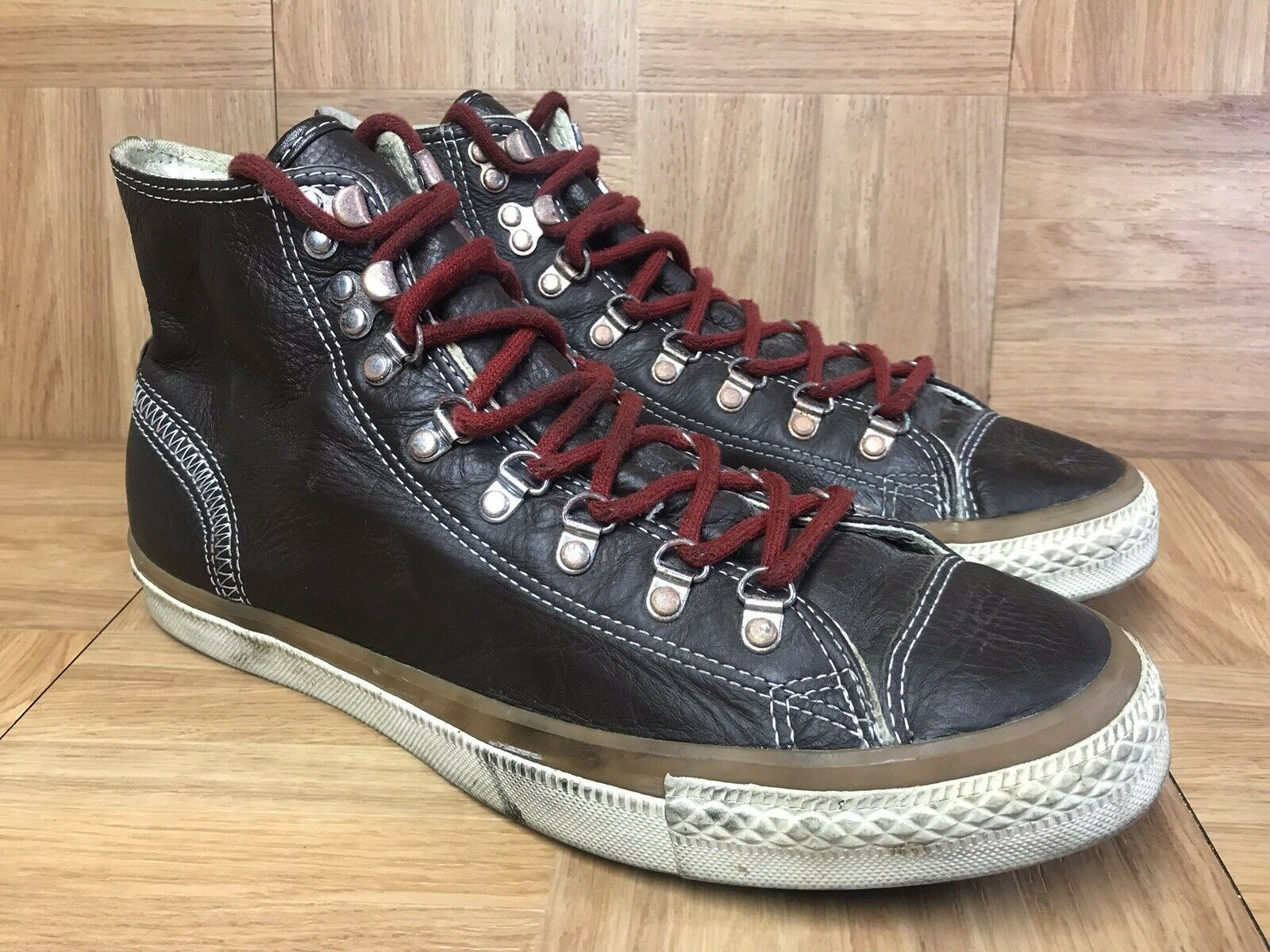 RARE Converse Chuck Taylor All Star Hiker Hi 10 132380C Pinecone Brown Leather