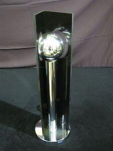 Rare 1970's Acrylic & Chrome Space Age Table Lamp   eBay