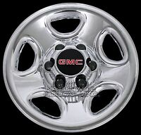 Set Of 4 Gmc 6 Lug 16 Chrome Wheel Skins Rim Simulators Hub Caps Full Covers