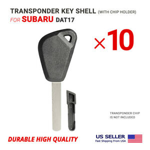 10X Transponder Key Shell For Subaru DAT17 With Chip Holder High Quality