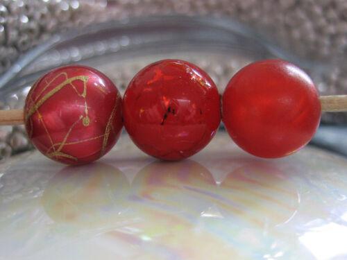 Rot Perlenauswahl #05 12mm kompatibel mit Tipit L Ring