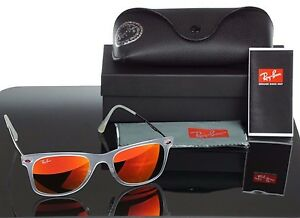 ae35bdd960 NEW RAY-BAN Tech Light Ray Matte Clear Red Mirror Lens ...