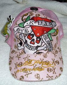 792e5628d02 PINK Ed Hardy Christian Audigier Love Kills Slowly Baseball Style ...