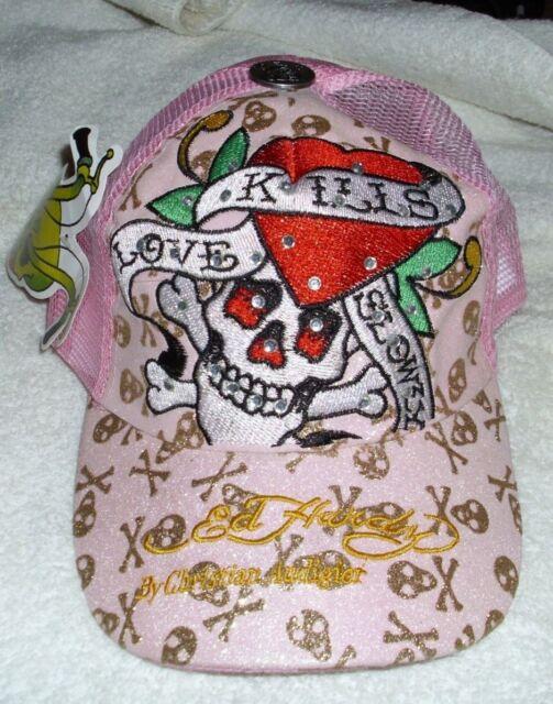 949babe542d Ed Hardy Christian Audigier Love Kills Slowly Baseball Style Cap Hat Pink  NWT