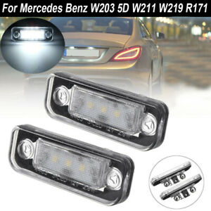 MERCEDES W203 W211 W219 CLS R171 SLK PLAFONES LUCES DE PLACA DE MATRÍCULA LED 2x