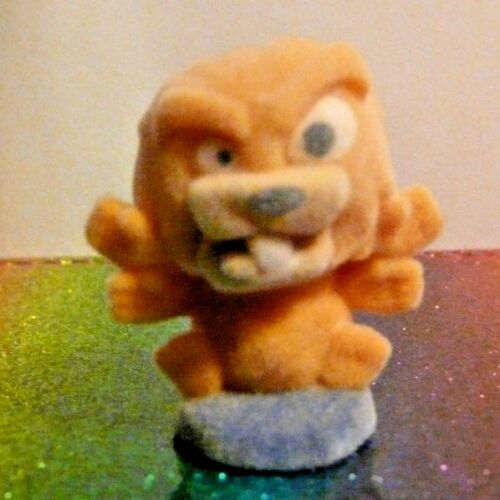 Flush Force Series 1 #34 TERRIBLE TIMBER Orange Fuzzy Mini Figure Mint OOP