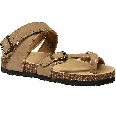 Kid/'s Outwoods BORK ANKL 41316734 Taupe Dual Buckle Straps Casual Sandal Shoes