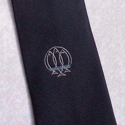 Instancabile Vintage Cravatta Da Uomo Cravatta Crested Club Associazione Società Pesce-mostra Il Titolo Originale Sconto Del 50