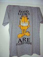 T-Shirt GARFIELD PAWS Good Looks are Everything Lizenz Shirt Original Grau Odie.