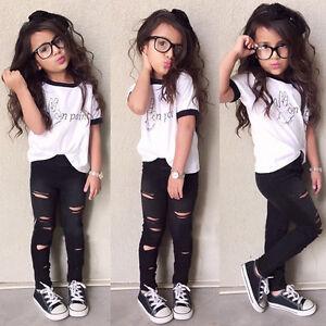 Children-Girls-Clothes-Kids-Tracksuit-Top-Pants-2PCS-Outfits-Casual-Suit-Set