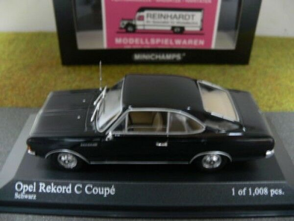 1 43 MINICHAMPS Opel record C Coupe 1966 Noir 430 046180