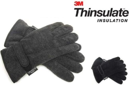 Men/'s 3M Thinsulate Insulated Polar Fleece Thermal Gloves by Heatguard
