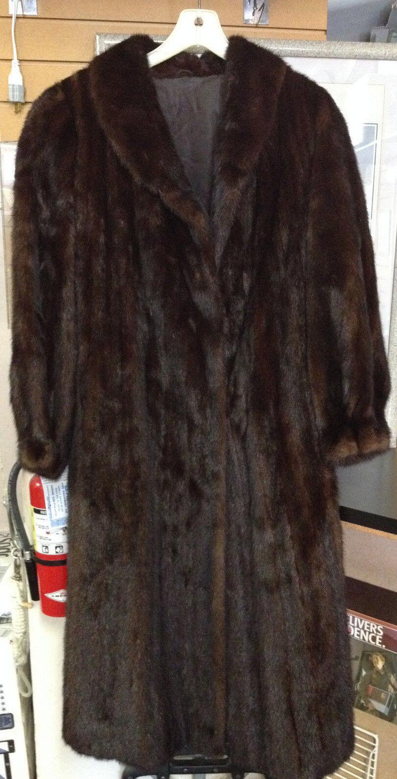 The Fur Vault - Full Length Mahogany Mink Coat Bracelet Cuff Size 10