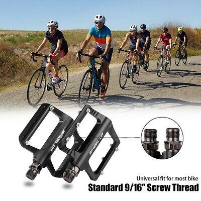 "Mountain Bike Bicycle BMX MTB Platform Pedals Flat Aluminum Sealed Bearing 9//16/"""