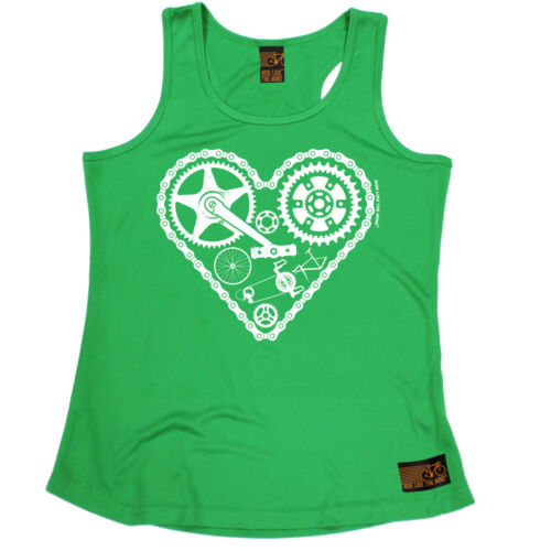 Heart Parts Cycling funny BirthdayWOMENS GIRLIE TRAINING VEST