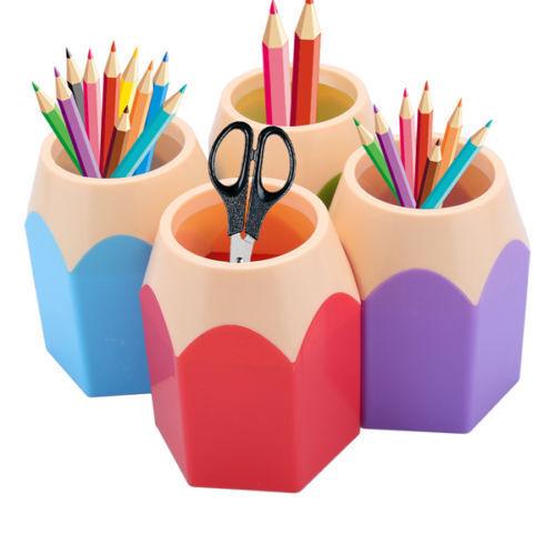 1x Nähte Farbe Bürstenhalter Stift Vase Stift Topf Schreibwaren Tisch Behälter