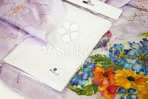 40x150cm-Habotai 8 Seda Bufanda de seda pura Silkcraft-blanco-para Seda pintura