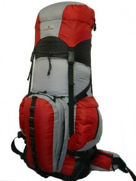 Expeable 130L Deluxe rosso Hire Backpack Sport campeggio Removable Waist Pack