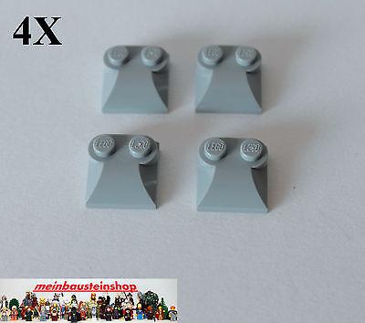 4X Lego® 47457 Steine Modifiziert Motorhaube 2x2 mit 2 Noppen neues Hellgrau NEU