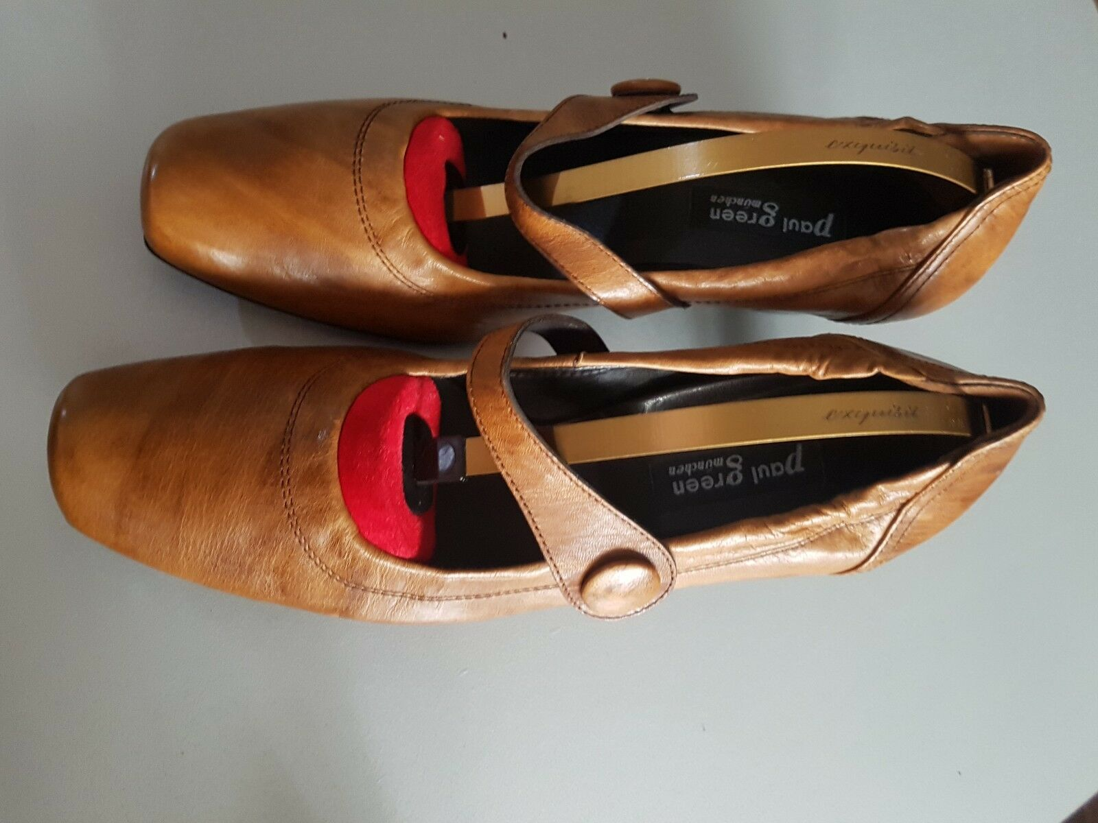 Paul Grün Pumps 6 Damenschuhe Sandalen Leder braun Gr 6 Pumps / 39.5 TOP aea79b