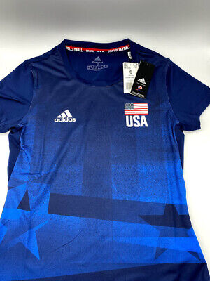 adidas USA Volleyball Primeblue Replica Tee Women's, Small, USED | eBay