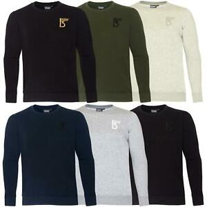 Mens-Jumper-Crew-Neck-Knitwear-Sweatshirt-Casual-Jersey-Fleece-SweatTop-Pullover