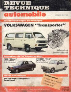 Pratique Rta Revue Technique Automobile N° 509 Volkswagen Transporter éGouttage