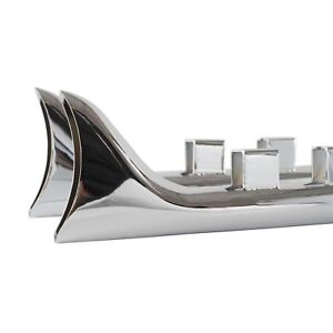 33-034-Fishtail-Slip-on-Muffler-Chrome-Exhaust-Pipe-For-95-16-Harley-Touring