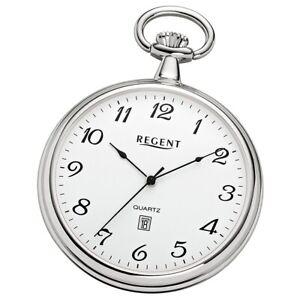 Regent Unisex Pocket Watches Super Flat Chrome-Plated Quartz Movement URP080