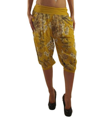 kurze Damen Haremshose Hose Pluderhose Pumphose Sommerhose Yogahose DK017