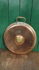 Vintage Copper & Brass bed warmer pan     Polished for display