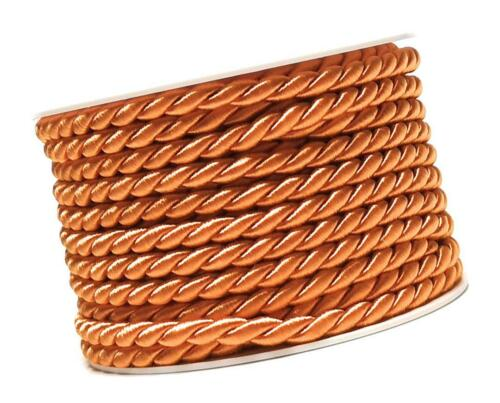 1 m = 0,60 € CORDON 10 m x 6 mm mandarine kordelband Fixation ficelle