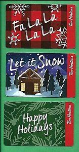2019 Tim Hortons Christmas Gift Cards Ebay