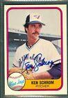 Ken Schrom Baseball Auto 1981 Fleer '81 Signature Autograph Signed Card #425