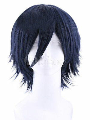 Dark Blue Fashion Cosplay Wig Short Stylish Women's Synthetic Wig Hair