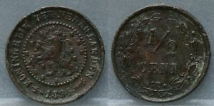Nederland-The-Netherlands-halve-cent-1894-1-2-cent-1994